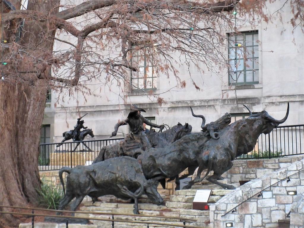 Camino de Gálvez, sculpture on Riverwalk, San Antonio, Tex… | Flickr