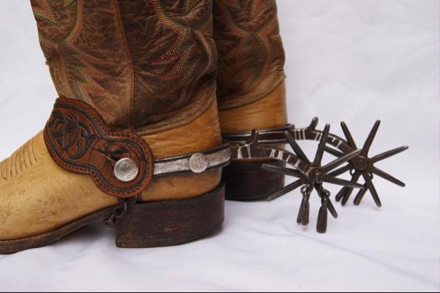 Description: California vaquero Spurs | Cowboy spurs, Western spurs straps ...